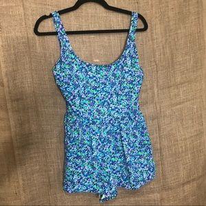 Vintage Pacific Connections SZ 14 Swimsuit Floral